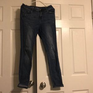 Blue rockstar jeans from old navy.